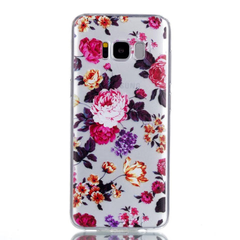 Samsung Galaxy S8 - Spring Flowers transparant gelhoesje - PhoneJunkie
