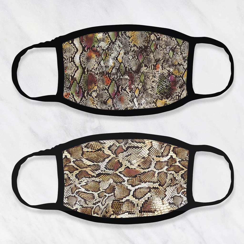 2 pack mondkapjes - snake fashion mondkapje PhoneJunkie
