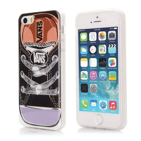 iPhone 5 / 5S - Zwart Sneakers gelhoesje - PhoneJunkie