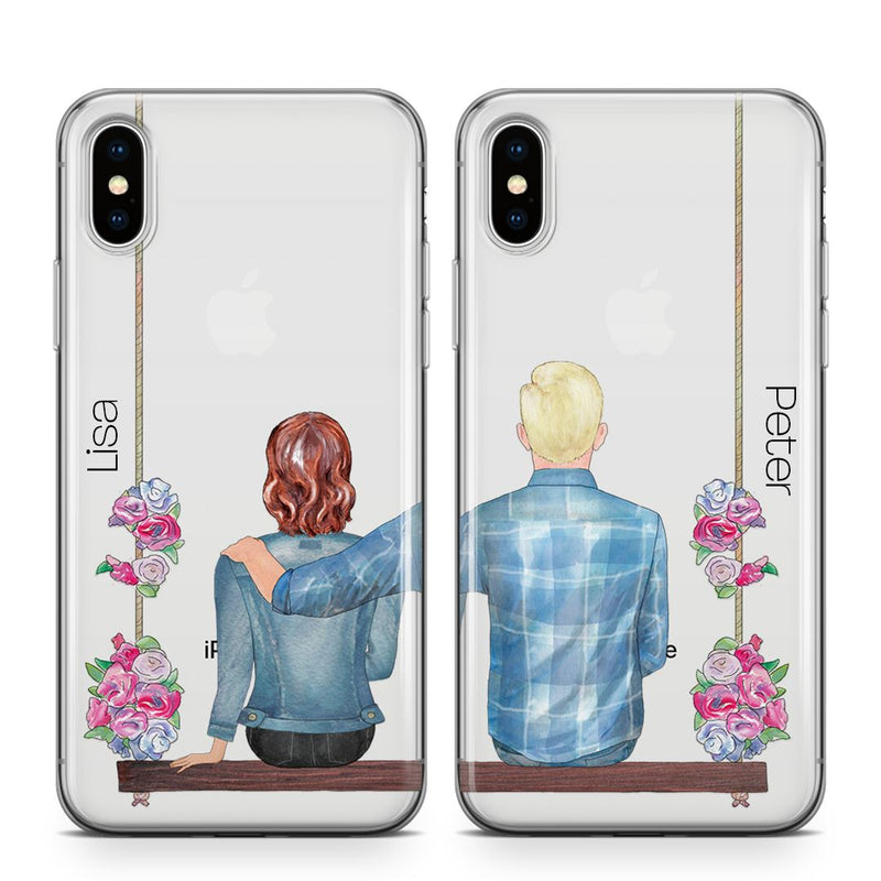 Couple Setje Swing - BFF Transparant Naamhoesjes Custom Clear Cases PhoneJunkie