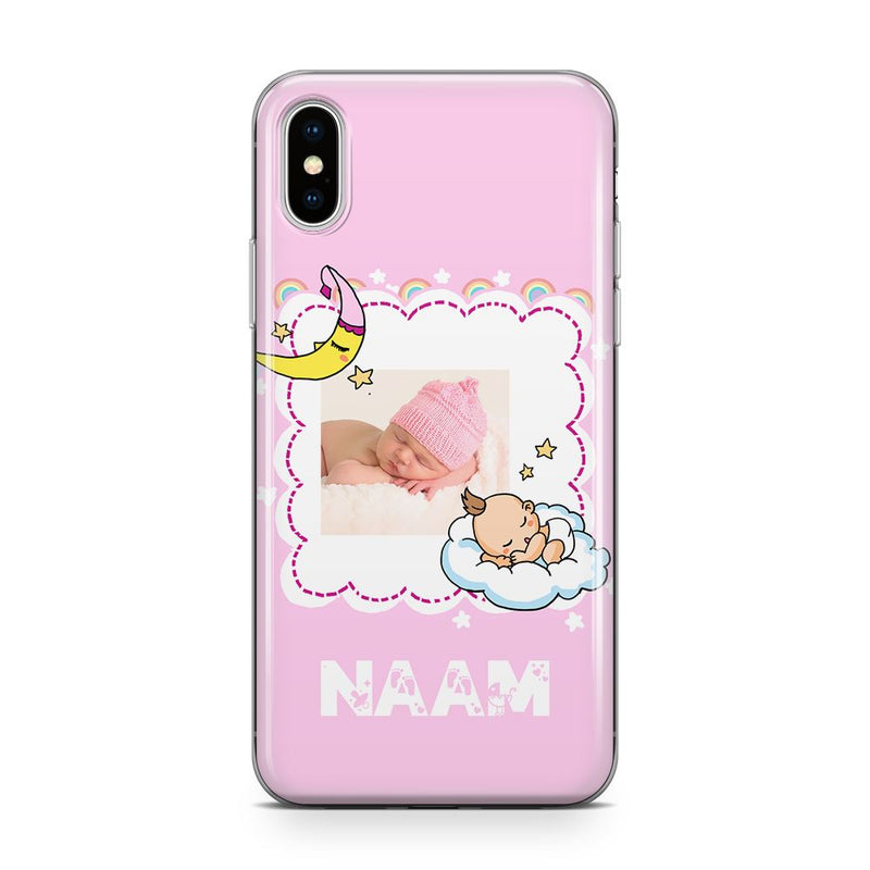 Baby Dreams Frame - Transparant Naamhoesje Custom Clear Cases PhoneJunkie