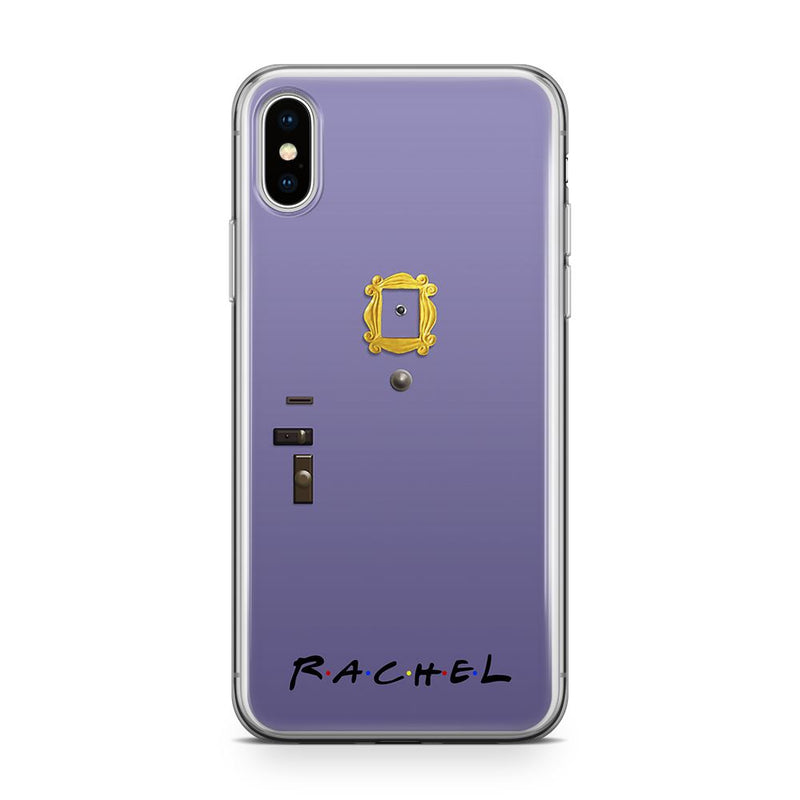 Purple door - Transparant Naamhoesje Custom Clear Cases PhoneJunkie