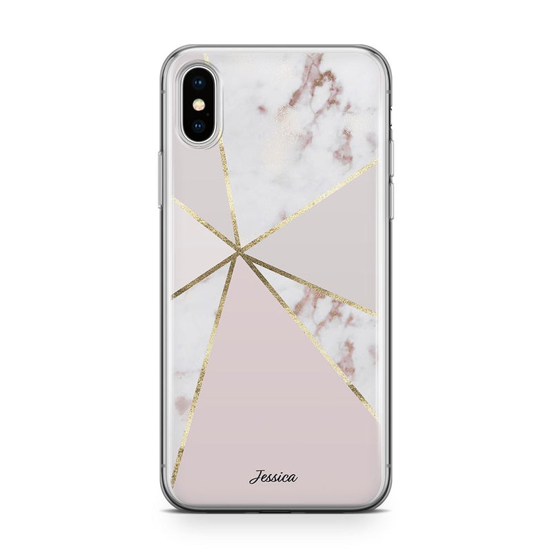 Marble Swirl - Transparant Naamhoesje Custom Clear Cases PhoneJunkie