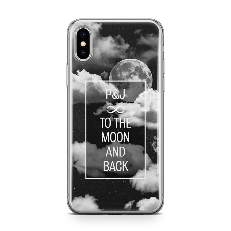 To the Moon & Back - Transparant Naamhoesje Custom Clear Cases PhoneJunkie