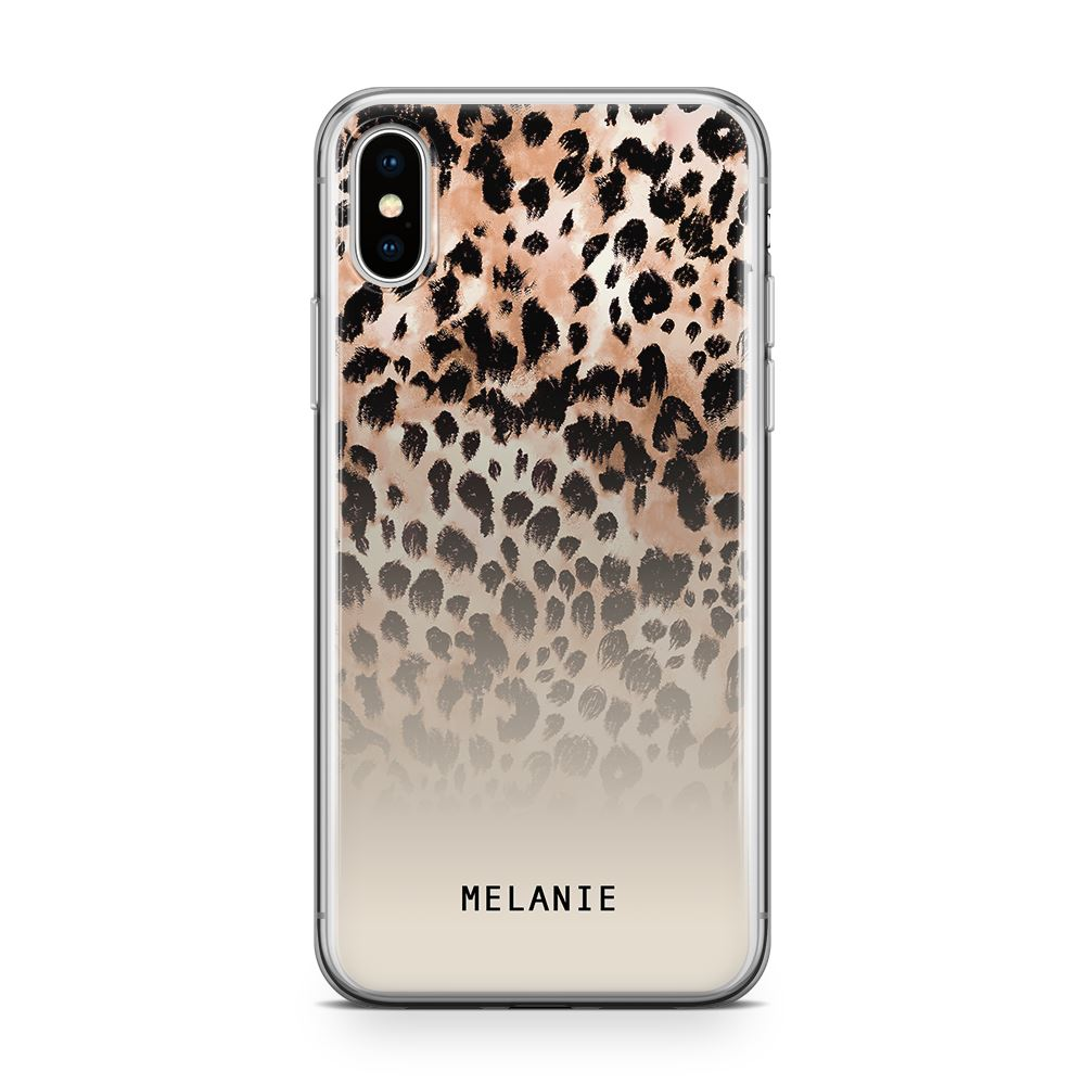 Nude Leopard - Transparant Naamhoesje Custom Clear Cases PhoneJunkie