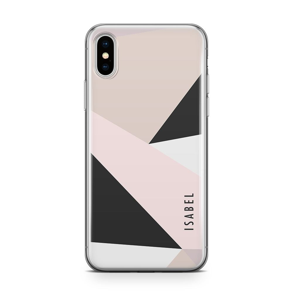Pastel Abstract - Transparant Naamhoesje Custom Clear Cases PhoneJunkie