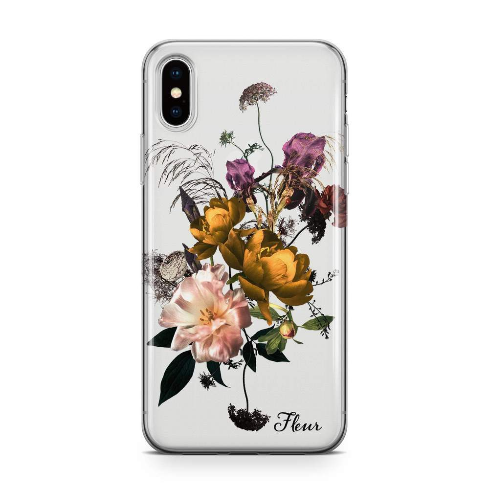 Purple Lemon Bouquet - Transparant Naamhoesje Custom Clear Cases PhoneJunkie