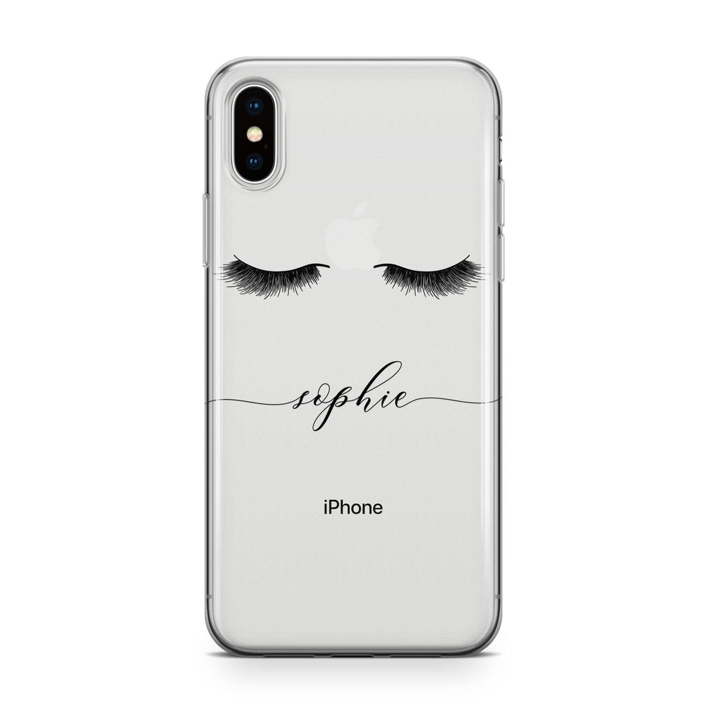 Lashes on Fleek - Transparant Naamhoesje - PhoneJunkie