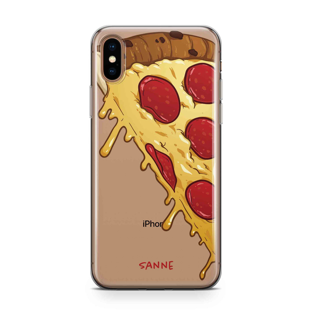 Dripping Pizza - Transparant Naamhoesje - PhoneJunkie