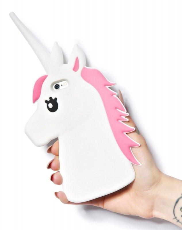 Unicorn 3D Hoesje White - PhoneJunkie