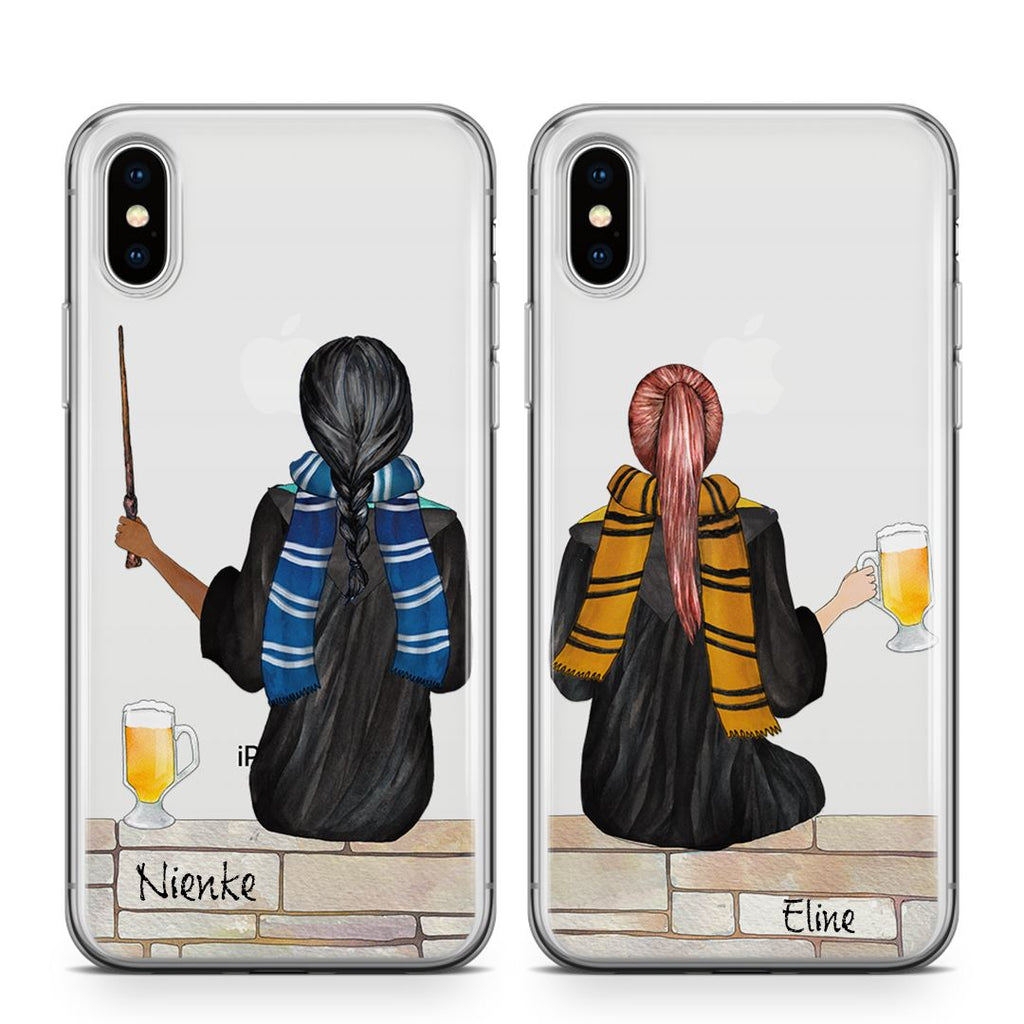 Wizard Besties Setje - BFF Transparant Naamhoesjes Custom Clear Cases PhoneJunkie