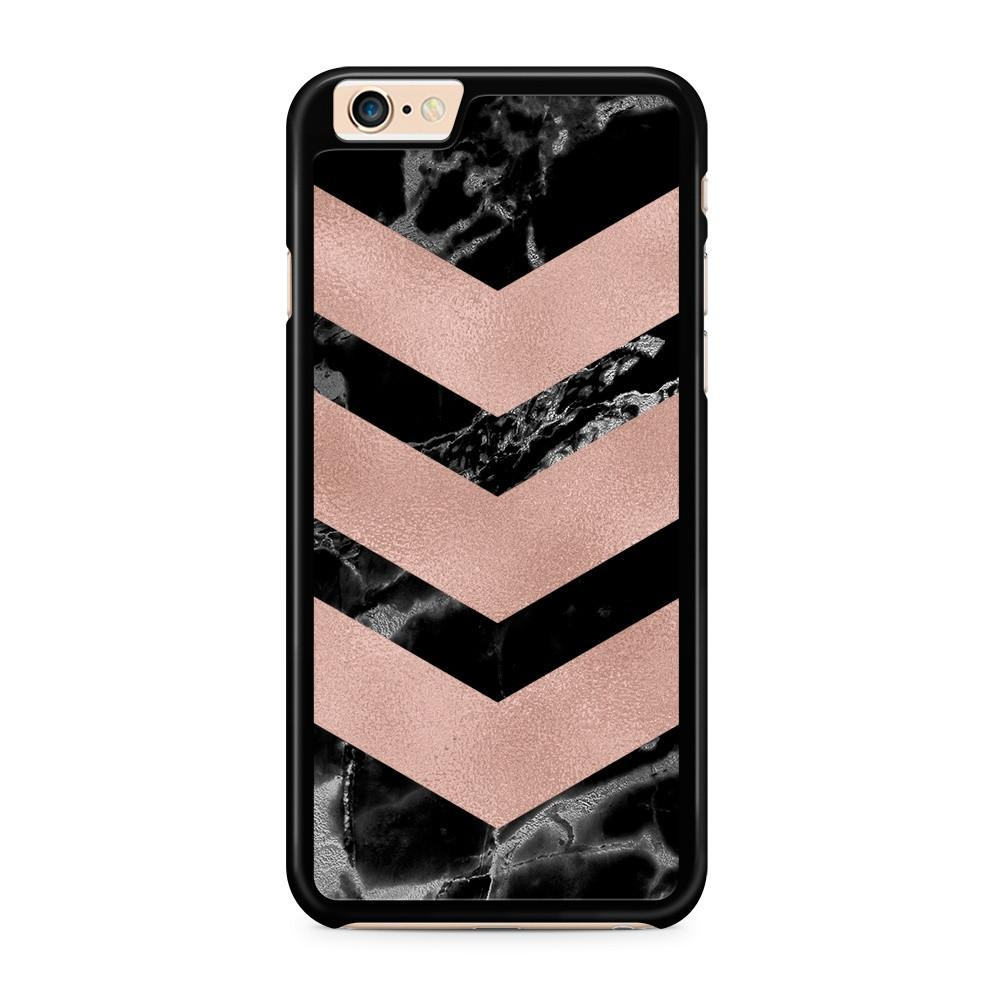 Black Marble Rosé Arrows hoesje - PhoneJunkie