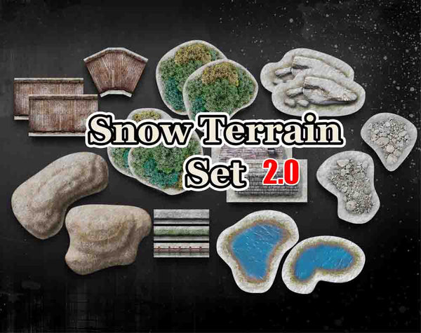"<h3><strong><span style=""text-decoration: underline;"">22% Savings Sale</span></strong></h3> HiddenForest Snow Terrain 2.0 for Warmachine and Hordes"