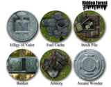 (Plastic) HiddenForest Scenario Elements Pack for Warmachine and Hordes (Zones, Flags, Objectives)