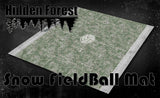 "HiddenForest 36"" Snow Field Ball Gaming Mat 2.0"