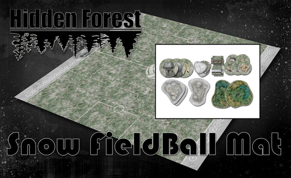 "<h3><strong><span style=""text-decoration: underline;"">*14% Bundle Savings*</span></strong></h3>HiddenForest Snow Guildball Mat and Snow Terrain Set"