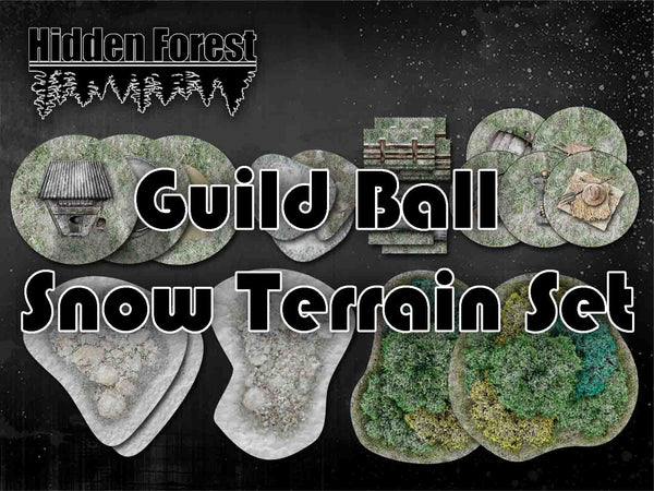 HiddenForest Guild Ball  Snow Terrain Set