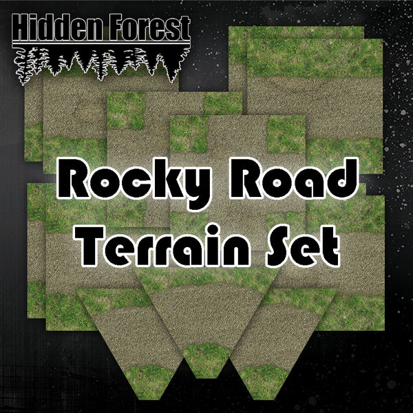 Rocky Road Terrain Set for Tabletop racing (Gaslands)