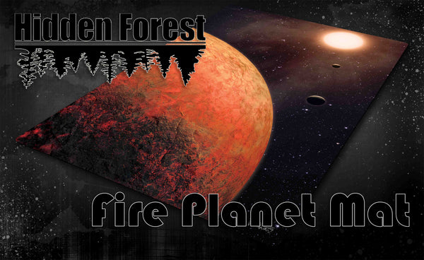 HiddenForest Space Gaming Mat Fire Planet (Mustafar)