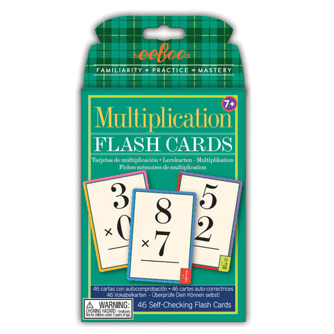 Tarjetas - flash cards de multiplicación