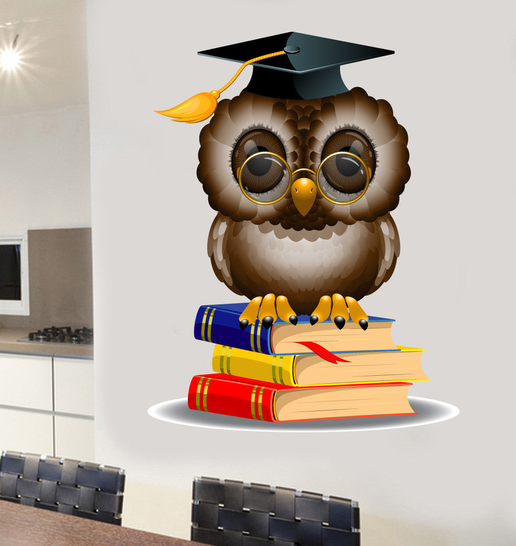 Wise Owl Wall Art Vinyl Stickers Decal Transfer Mural