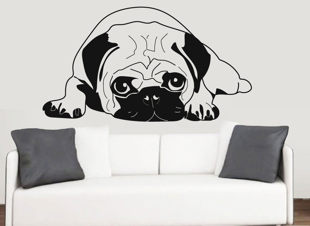 846f6aeb7e0 Pug Silhouette Wall Art Vinyl Stickers Dog Chinese Pet – Stickers On Your  Wall