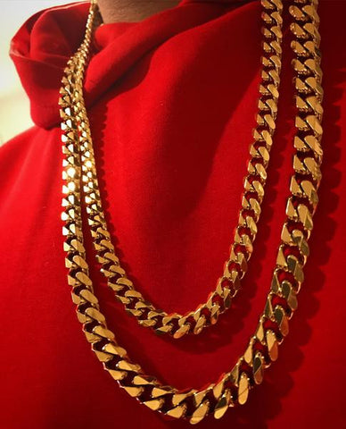 Cuban 2 Chain Gold Bundle