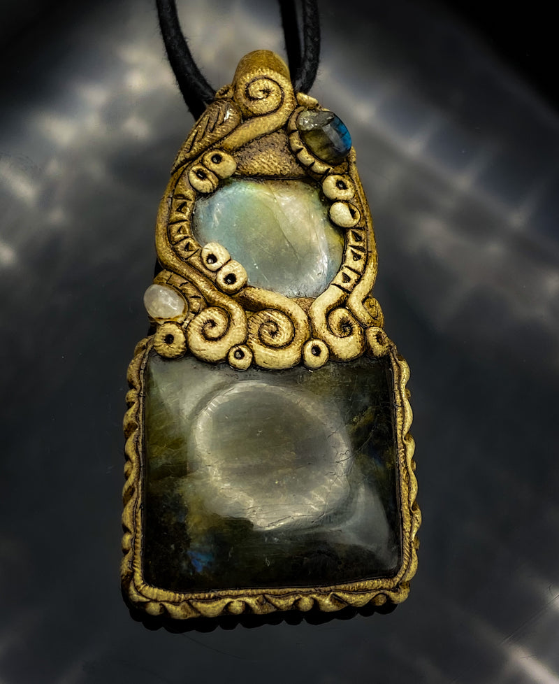 Labradorite Clay Necklace