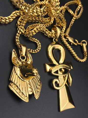 Ankh Anpu Gold Chain Bundle
