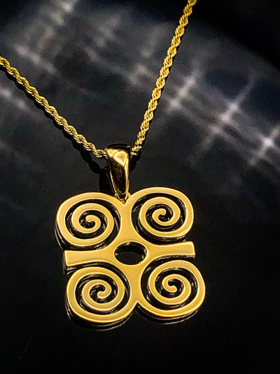 Rams Horn Adinkra Necklace