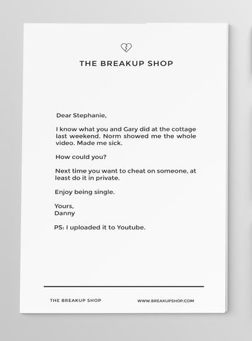 Breakup Letter - Custom