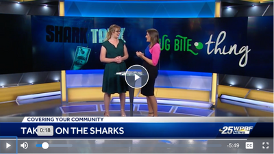 "WPBF News 25 - Local woman jumps into the ""Shark Tank"""