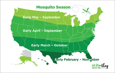 Mosquito Season by state