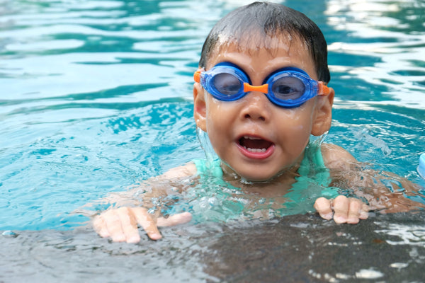 Swimming lessons are important when keeping your child safe at the pool.