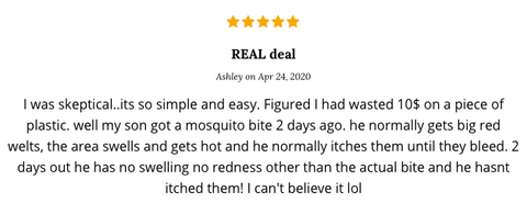 Bug Bite Thing testimonial via Ashley