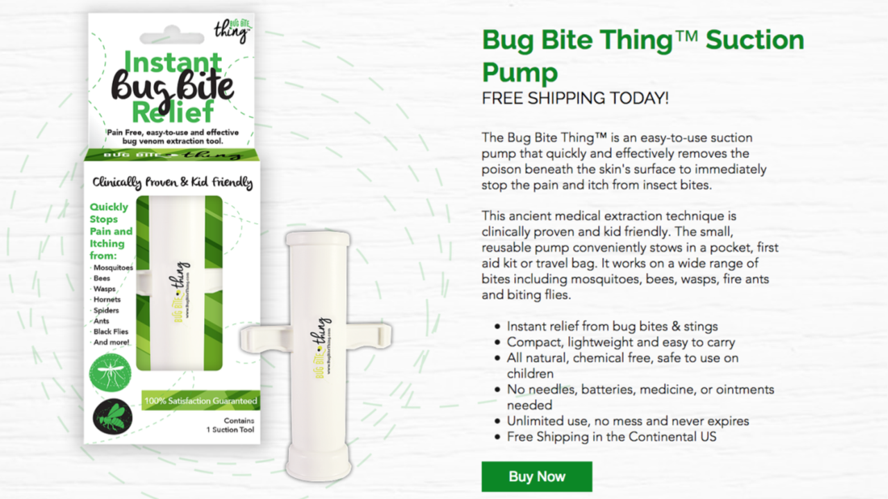 Bug Bite Thing Suction Pump Buy Now