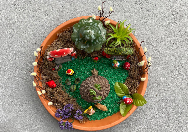 DIY fairy garden and gnome home