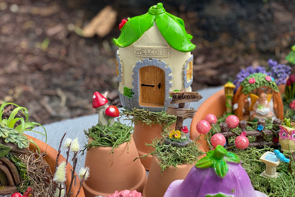 Dollar store fairy garden and gnome home