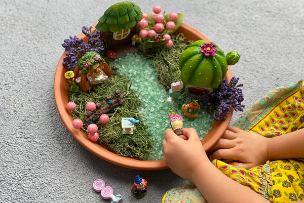 Easy fairy garden and gnome home