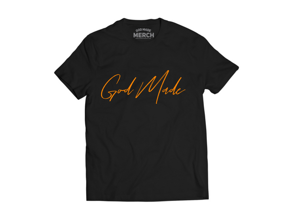God Made Signature Black Tee