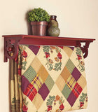 wall mounted Quilt Rack with Shelf