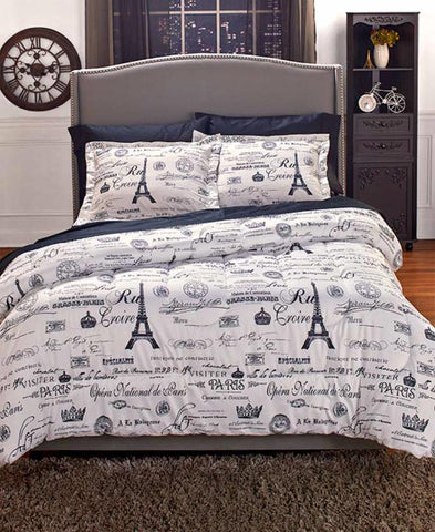 Attractive Paris Theme Bedroom · Paris Themed Bedding · Eiffel Tower Print Bed Set ...