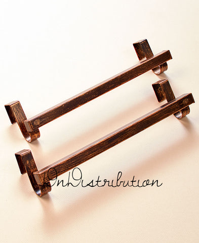 Over the Door Towel Bar Set of 2 Kitchen Cabinet Bathroom Laundry Bar Metal