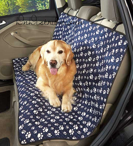 Paw Print Car Seat Cover