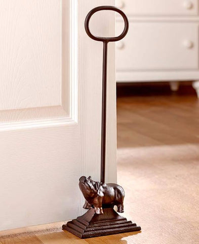 Beau ... Cast Iron Pig Door Stop