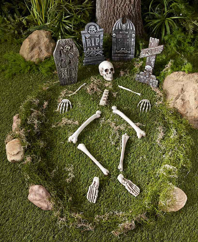 Halloween Yard.Halloween Yard Decor Skeleton Parts Or Tombstone Set Create A Graveyard Spooky