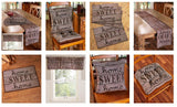 Set of 4 Place Mats Home Sweet Home Themed Decor Tapestry Print Rustic