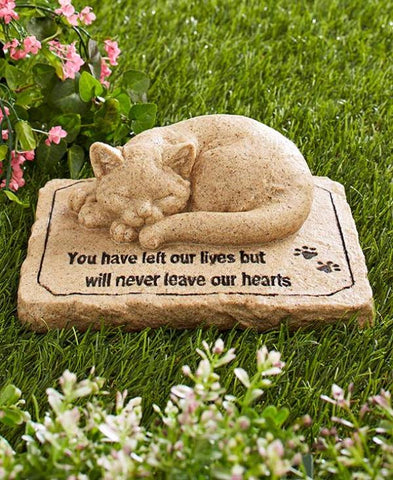 Sympathy Stones For The Garden Pet memorial stone garden sentiment cat dog remembrance statue pet memorial stone cat workwithnaturefo