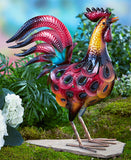 Metallic Rooster Lawn Ornament