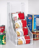 Pantry Can Organizers Steel Canned Goods Organization White Black or Brown